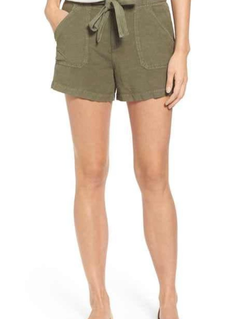 Willow & Clay linen short with self belt