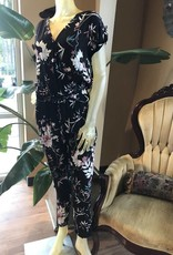 print jumpsuit with drawstring detail