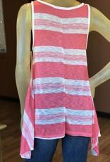 striped swingy tank top