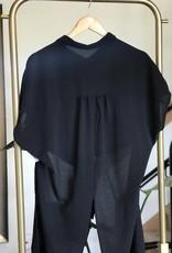 cap sleeve tie front top