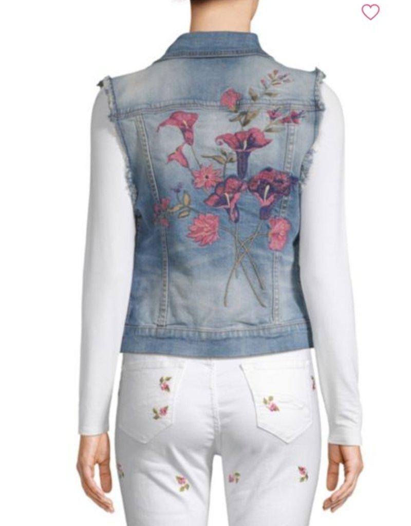 Driftwood vega denim embroidered vest