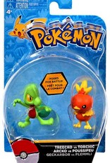 Action Figure Pokemon Treecko vs torchic