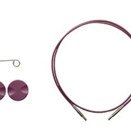 "Knitpicks 24"", Options Interchangeable Circular Knitting Needle Cables - Purple single pack"