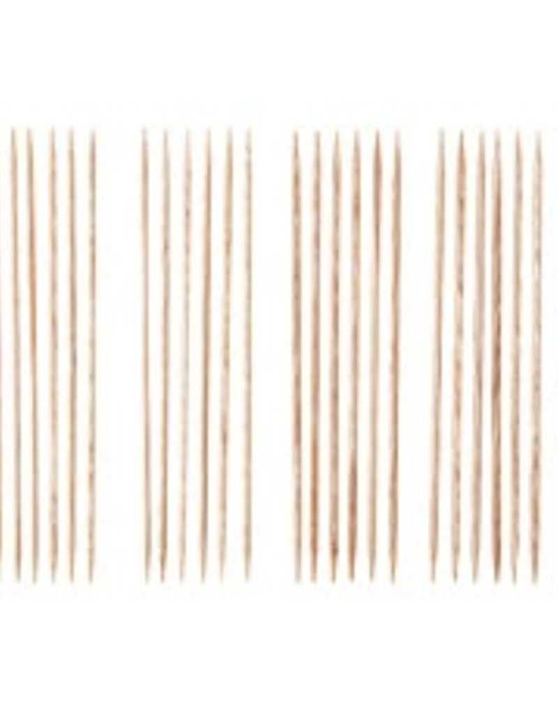 "Knitpicks 6"" Sunstruck Wood Double Pointed Knitting Needle Set, US 0-4"