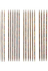 "Knitpicks 6"" Rainbow Wood Double Pointed Knitting Needle Set, US 0-3"