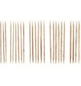 "Knitpicks 4"" Sunstruck Wood Double Pointed Knitting Needle Set, US 0-4"