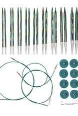 Knitpicks Options Interchangeable Caspian Circular Knitting Needle Set, US 4-11