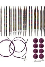 Knitpicks Options Interchangeable Rainbow Wood Circular Knitting Needle Set, US 4-11
