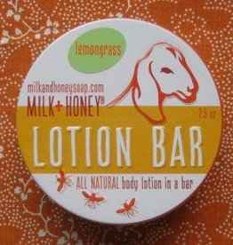 Milk + Honey Lemongrass Lotions Bars in tins