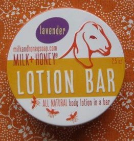 Milk + Honey Lavender Lotion Bar in tin