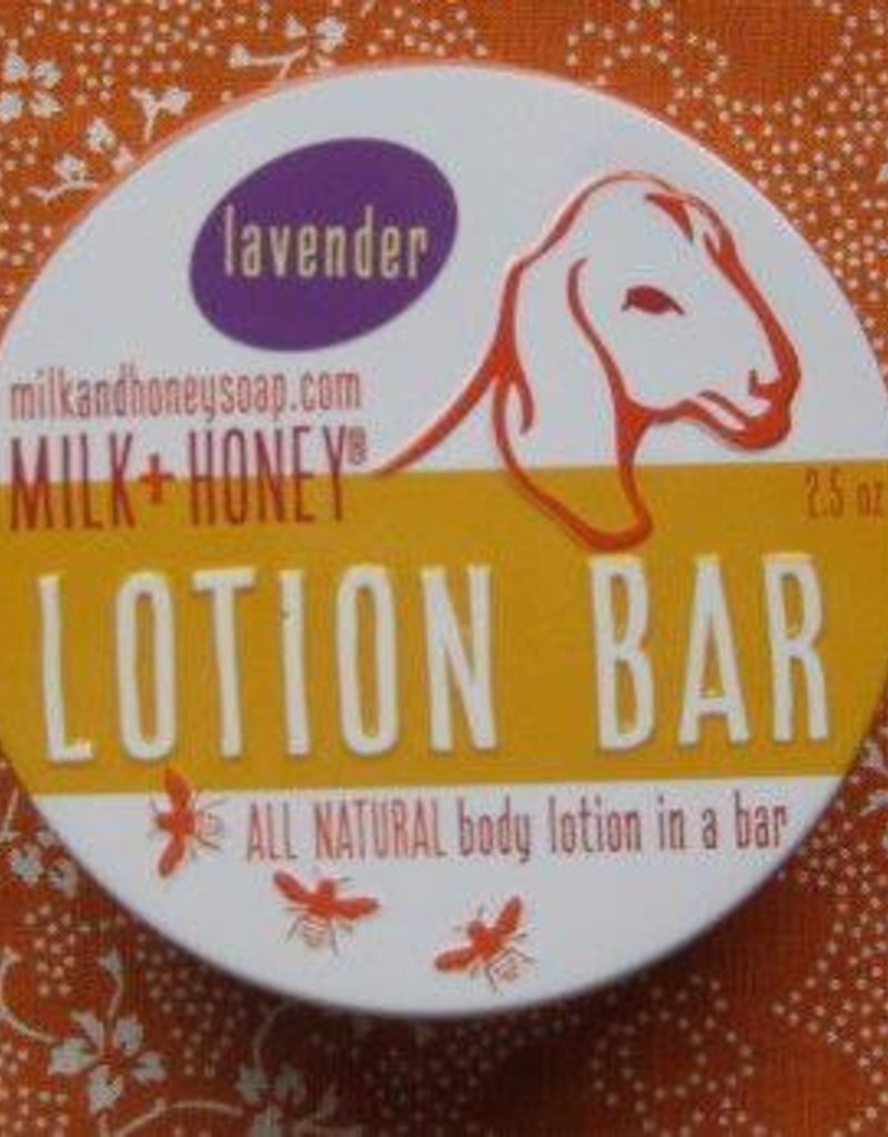 Milk + Honey Lavender Lotion Bar in tin