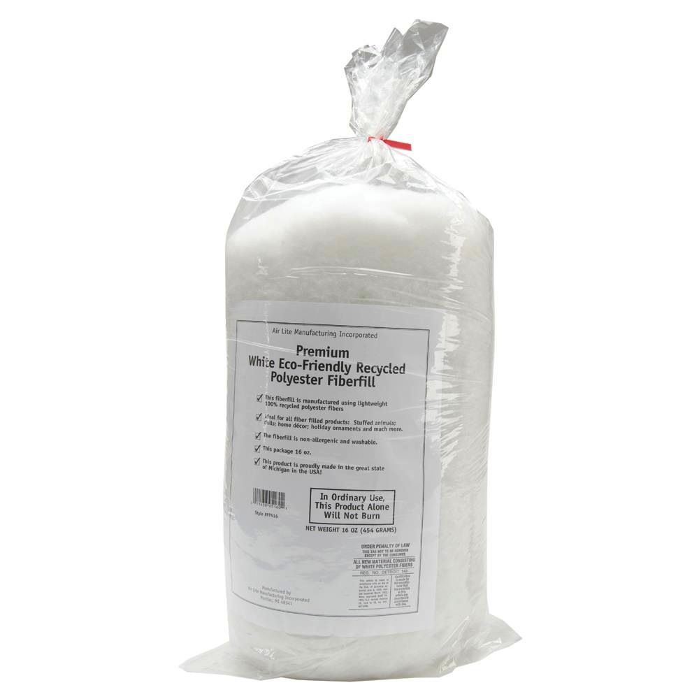 Eco-Friendly Recycled Polyester Fiberfill, 1lb