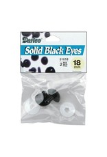 Shank Black Solid Eyes 18mm 2/Pkg