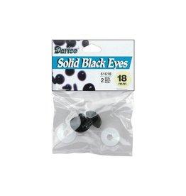 Shank Black Solid Eyes 18mm 2/Pkg