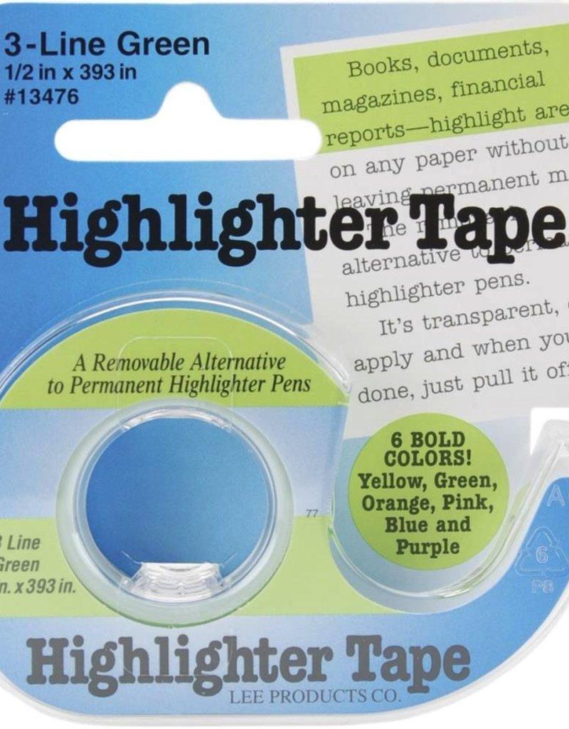 "Highlighter Tape, Green, 1/2""X393"""