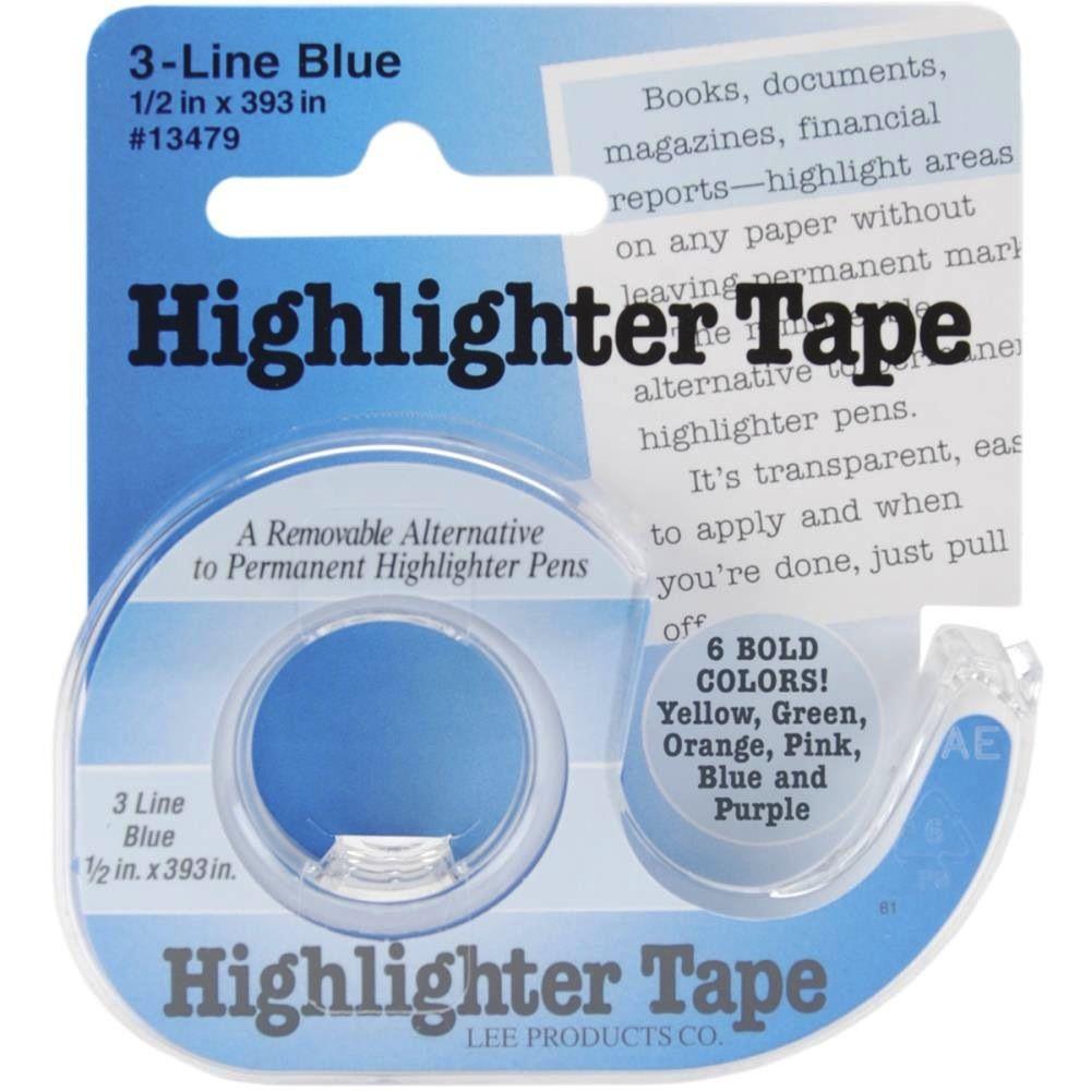 "Highlighter Tape, Blue, 1/2""X393"""