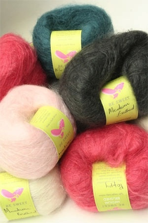 Medium Brushed Mohair, Lime by Be Sweet