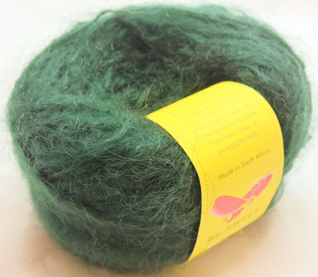 Brushed Mohair, Bottle Green by Be Sweet