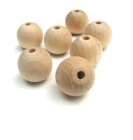 Wood Turn-round bead - 5 pack - 20mm