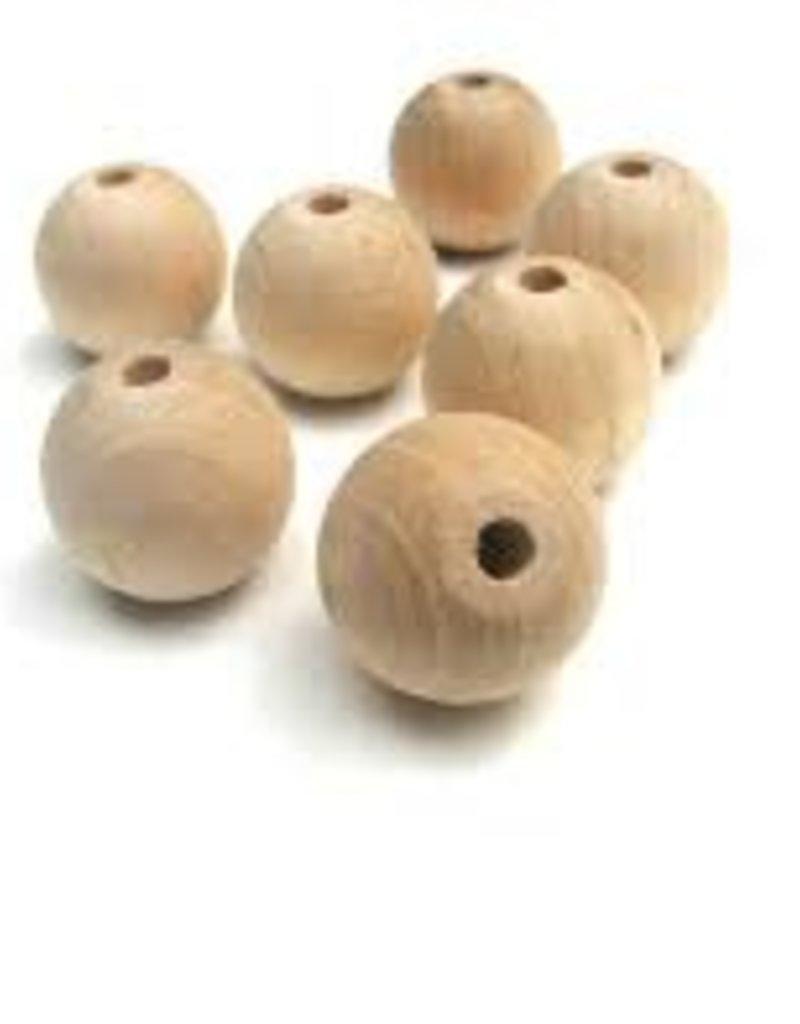 Wood Bead 5 Pack 20mm