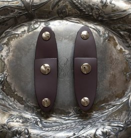 Jul Designs Jul Oval Latch Leather Snap Closure - Aubergine