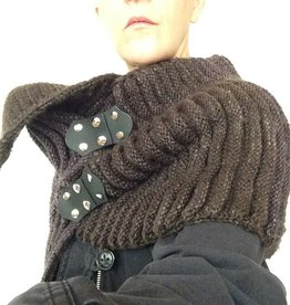 Jul Designs Jul Black Florentine Hinge Leather Closure