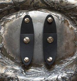 Jul Designs Jul Oval Latch Leather Snap Closure - Black