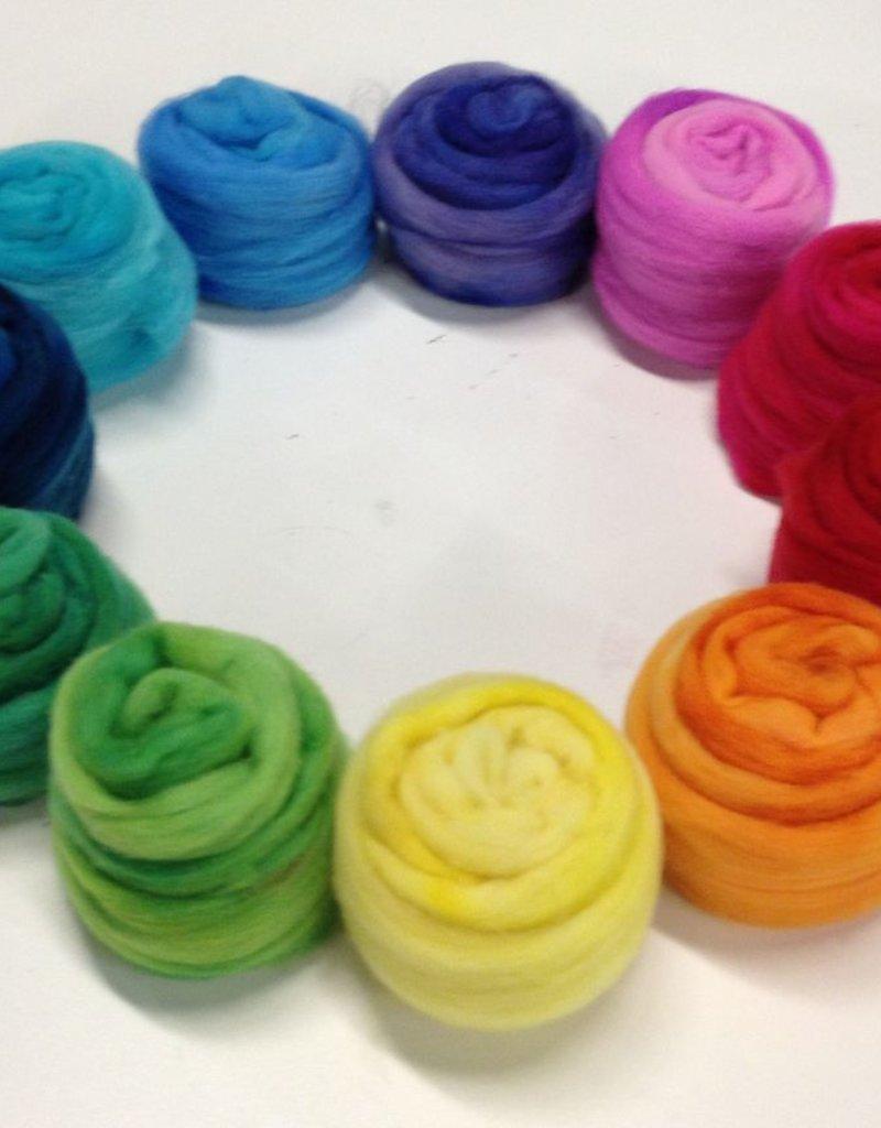 Frabjous Fibers Three Feet of Sheep, BFL Rainbow, 8 oz by Frabjous FIbers
