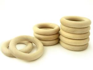 "Yarn it & Haberdashery Natural Wood Teether Ring 2 2/8"" (56mm)"