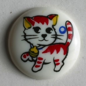 Dill 13mm Round Kitten Button