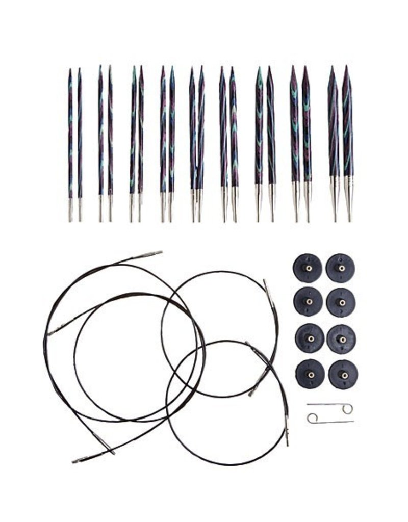 Knitpicks Options Interchangeable Majestic Circular Knitting Needle Set, US 4-11
