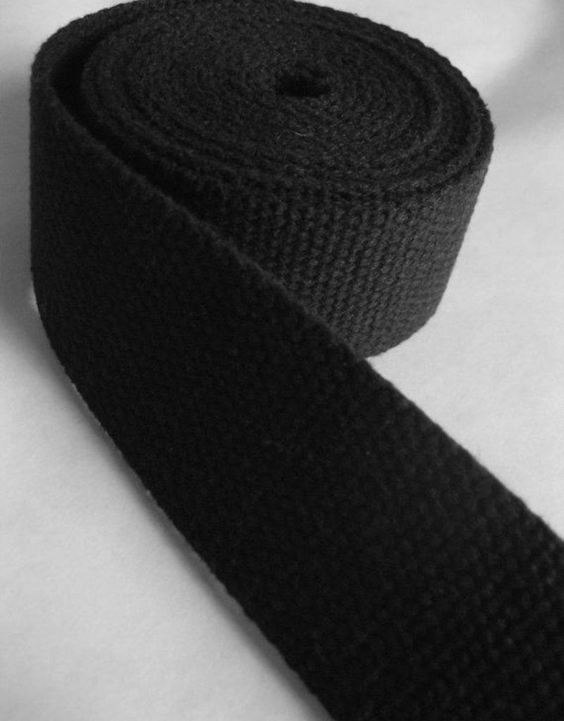 "Notions Marketing 1.5"" Black Cotton Webbing"