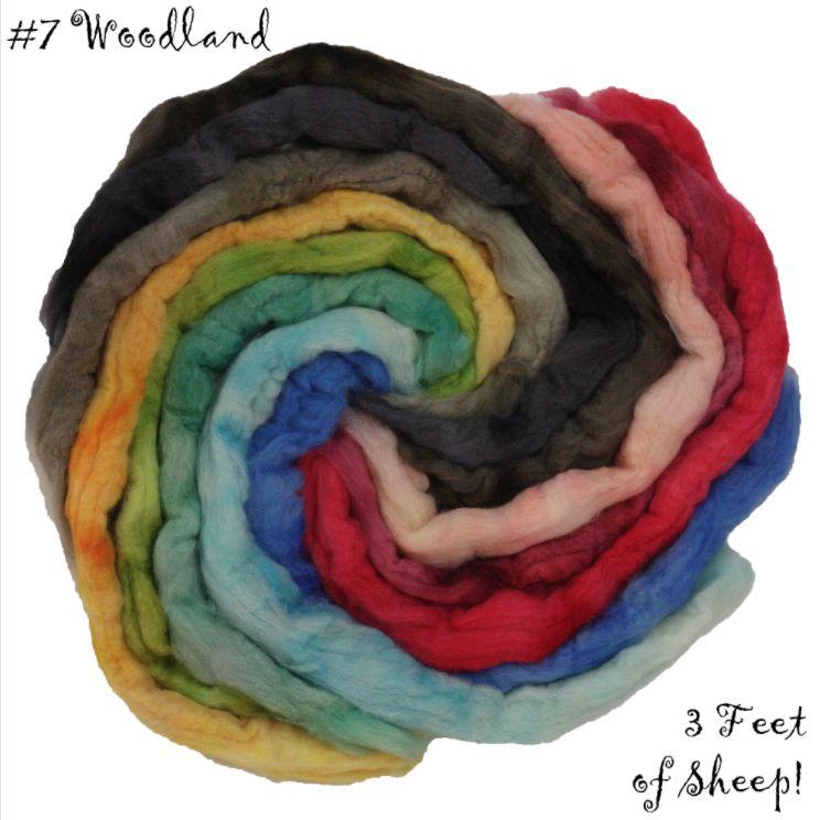 Frabjous Fibers Three Feet of Sheep, BFL Woodland Collection, 8 oz