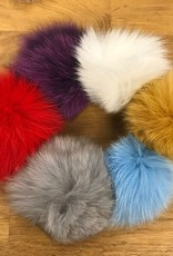 "Yarn it & Haberdashery Fox Fur 3.4"" Pom Pom"