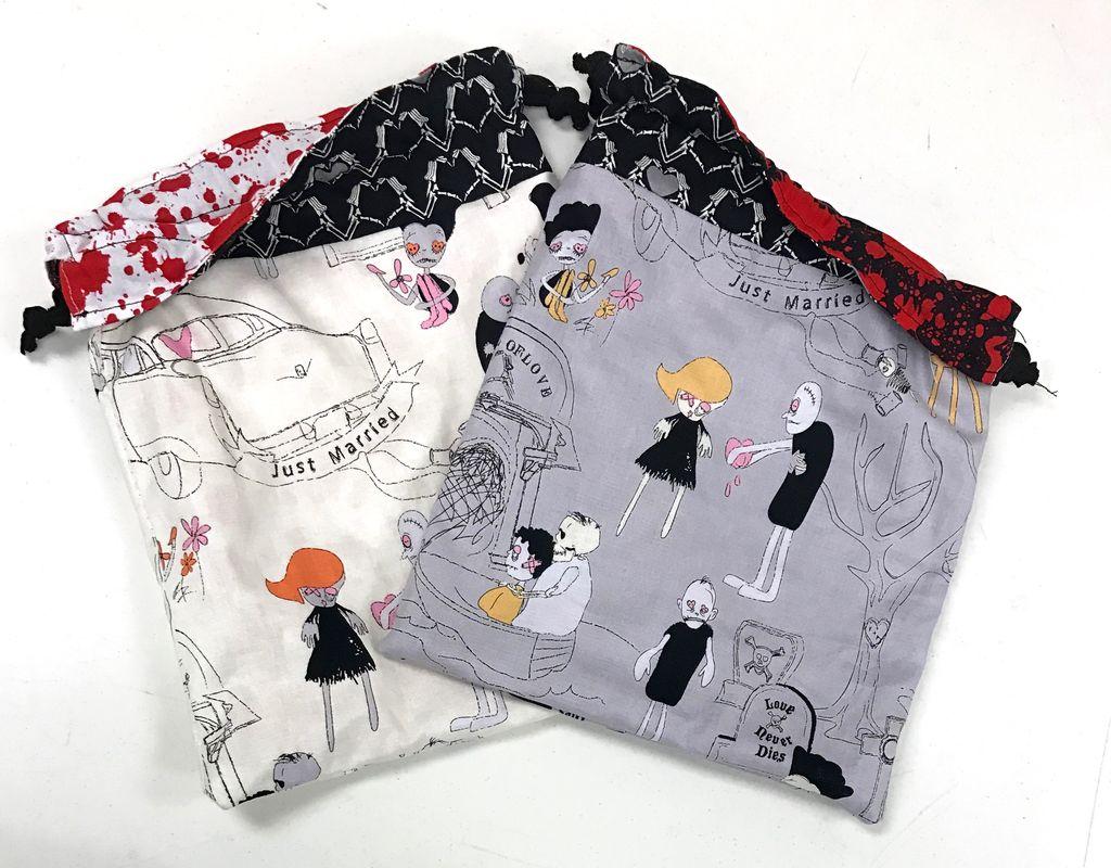 Yarn it & Haberdashery Zomebie Love Project Bag