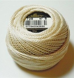 DMC Pearl Cotton Balls Size 8 - 87 Yards, Very Light Mocha Brown