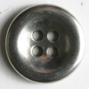 Dill Antique Silver Metal Button, 18mm