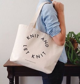 "Fringe Supply Co. ""Knit and let knit"" tote by Fring Supply Co."