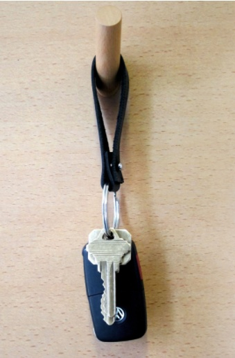 I LOVE HANDLES FOB Ruler Leather Keyring