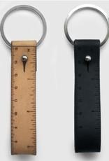 I LOVE HANDLES FOB Ruler Leather Keyring