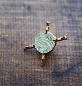 NNK press Yarn and Needles Enamel Pin