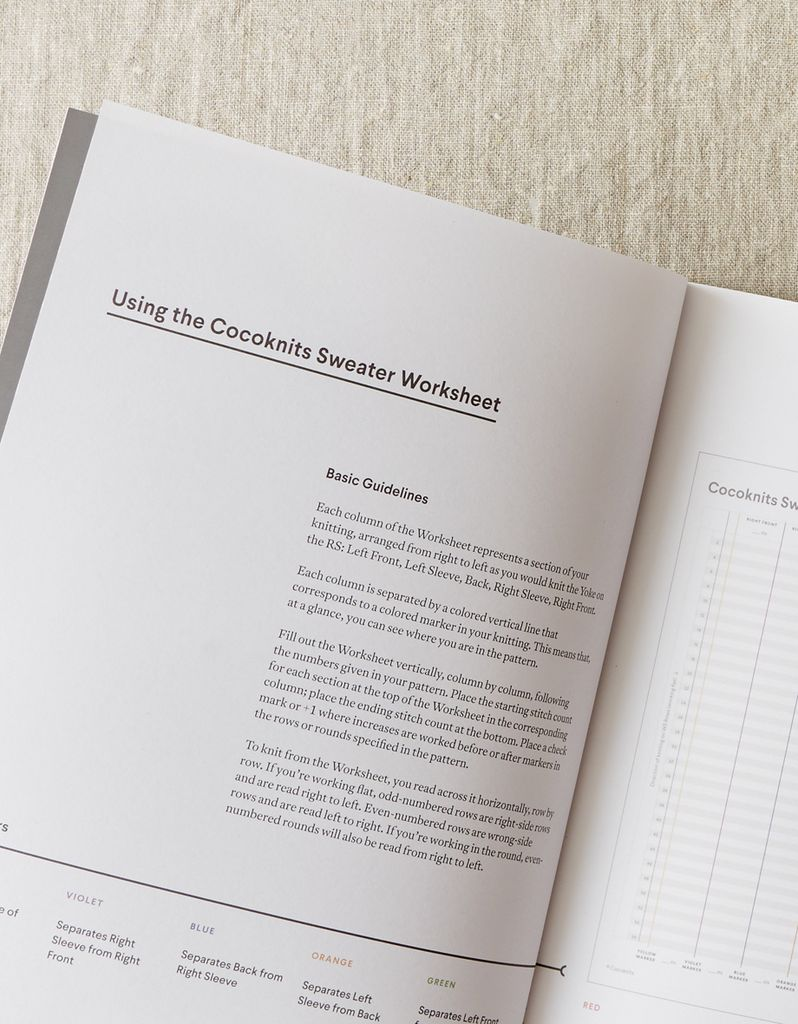 Cocoknits Sweater Worksheet Journal by CocoKnits - PreOrder