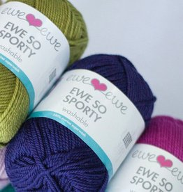 Ewe Ewe Ewe So Sporty by Ewe Ewe Yarns - Blues, Greens, & Purples