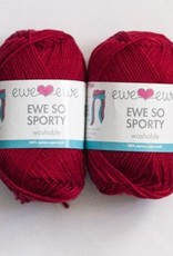 Ewe Ewe Ewe So Sporty by Ewe Ewe Yarns - Red, Yellows, & Pinks