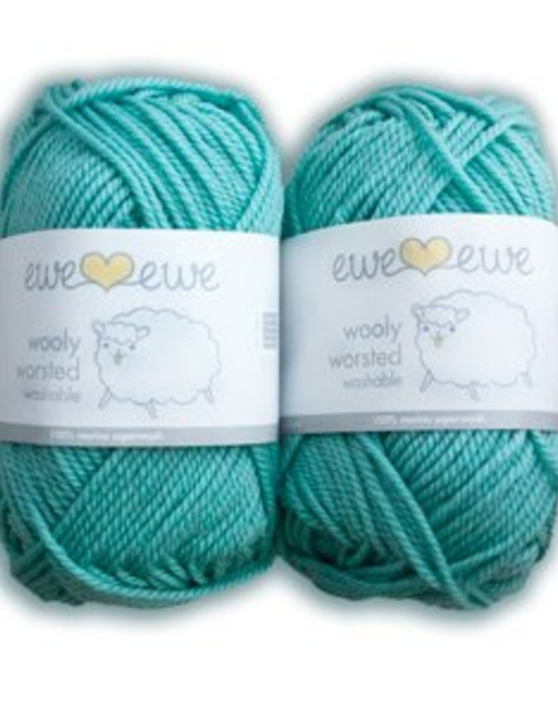 Ewe Ewe Wooly Worsted by Ewe Ewe Yarns - Blues, Greens, & Purples