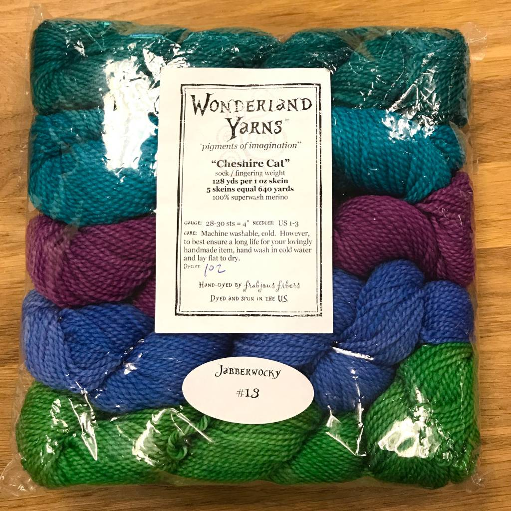 Wonderland Yarn Color Collection - Cheshire Cat Mini-Skeins