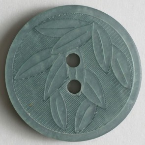 Dill Embossed Polyester Button, 18 mm