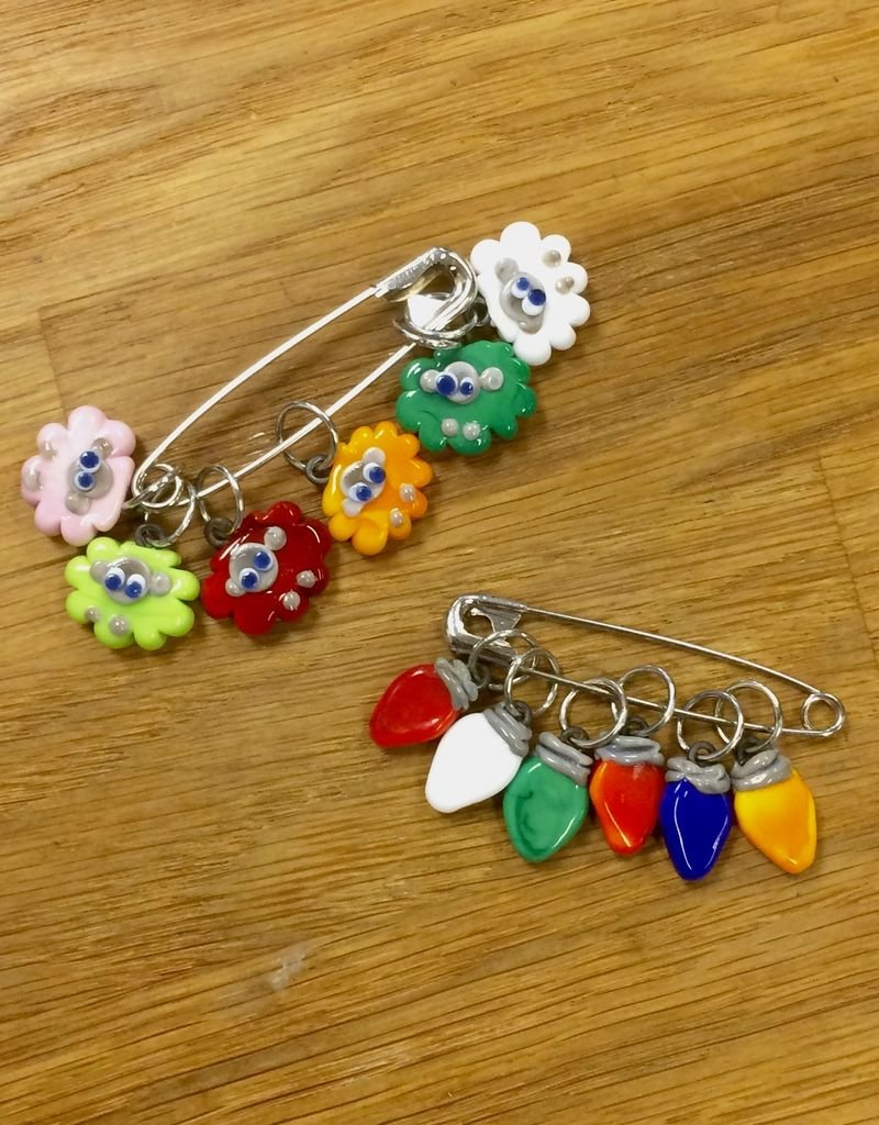 Ann Tudor Ann Tudor Glass Stitch Markers - Holiday
