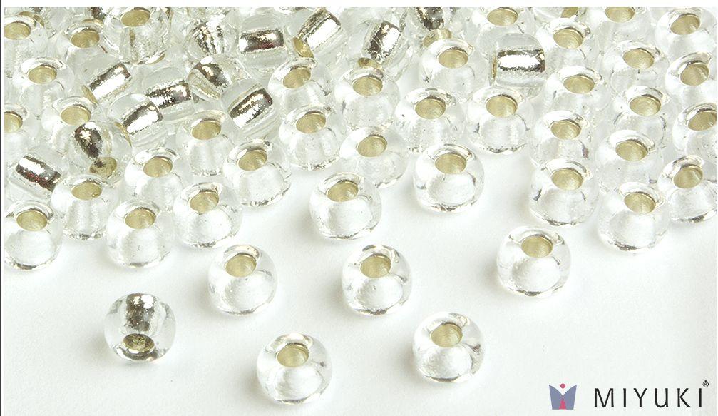 Hiya Hiya Miyuki 6/0 Silver Lined Glass Beads approx 30 grams (approx 360 beads)
