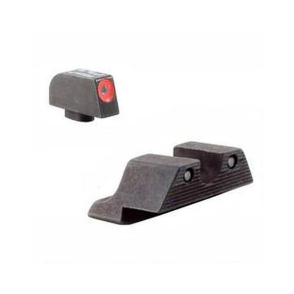 Trijicon Trijicon HD Night Sight Set Glock 17, 19, 22, 23, 24, 26, 27, 33, 34, 35 Gen 1, 2, 3, 4, 5 Steel Matte 3-Dot Tritium Green with Front Dot Orange Outline